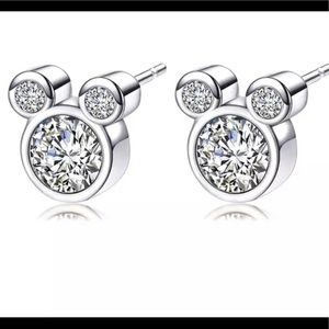 Jewelry - Mickey Mouse CZ Stud Earrings